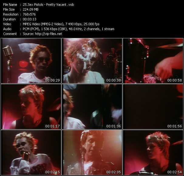 View more Music Videos of Sex Pistols.