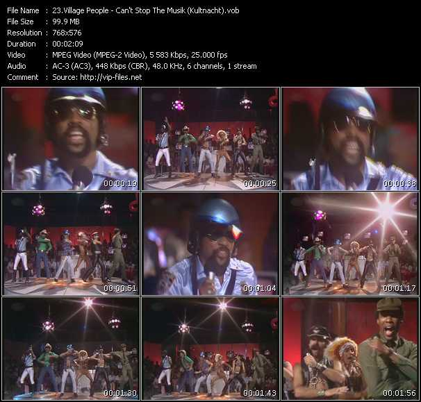 ymca village people. Village Peoplevideoclip