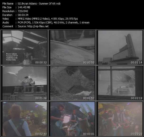 bryan adams summer of 69. Bryan Adamsvideoclip Summer